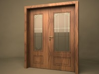 3d antic double door model