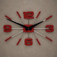 3d model of wall clock