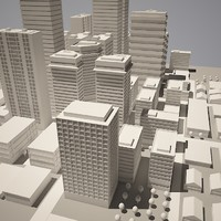 3d model cityscape simple