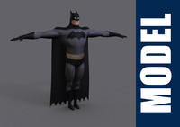 batman series modeled 3d model