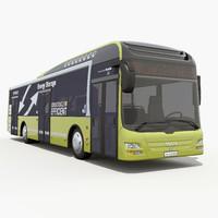 3d max bus man hybrid
