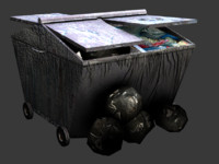 3d bag garbage container