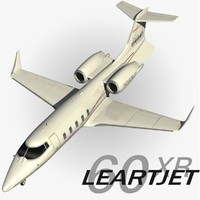 learjet 60 xr 3d model