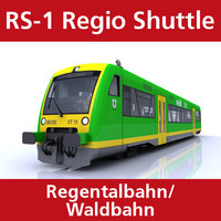 3d rs-1 regio shuttle passenger train
