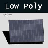 3d model solar panel polys