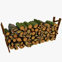 3d model old wood