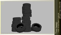tire stack 3d model