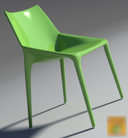 chair outline green 2013 3d max