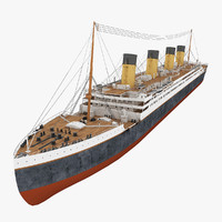 3d titanic cruise ship