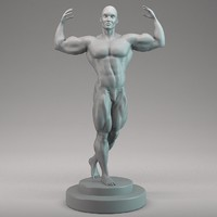 man bodybuilder 3d max