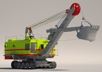 3d electric crawler shovel