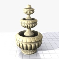 3ds max stone fountain