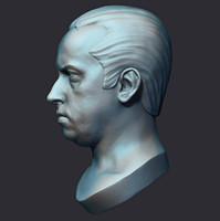 3d human male head model