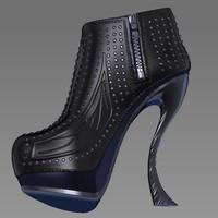 3d model realistic boots