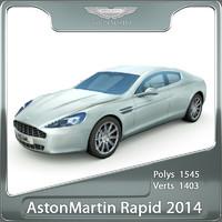 3d aston martin rapide 2014 model