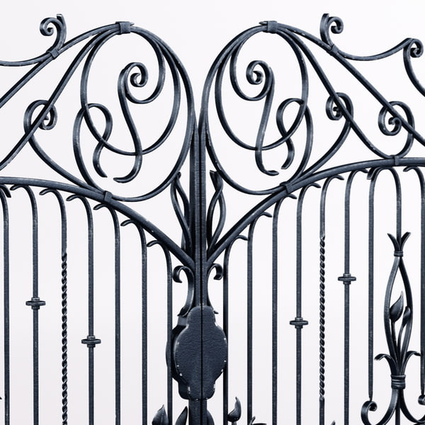 3d model wrought iron gate - Wrought Iron Gate... by sogun