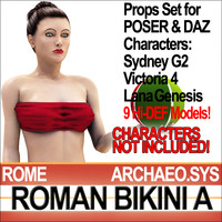 Props Set Poser Daz for Roman Bikini A
