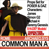 Props Set Poser Daz for Roman Common Man A