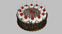 black forest cake cherry 3d obj