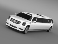 3d cadillac escalade limo 2013