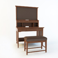 henderson secretary bench 3d x