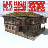 3d weathered house games