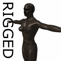 RIGGED Muscular Black Woman Base Mesh