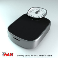 realistic person weight scale 3d model