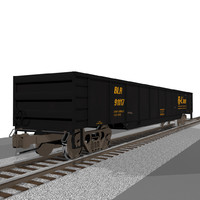 Railroad / Train Car: Gondola: C4D Format