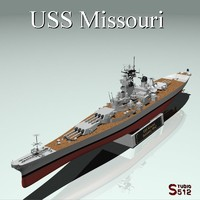 3d model uss missouri