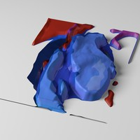 3d model abstract displacement