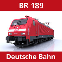 br 189 engine cargo trains 3d c4d