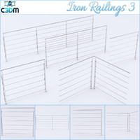 iron railing 3d obj