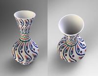 realistic vase 3d 3ds
