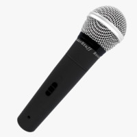 free basic microphone 3d model