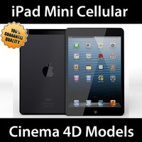 apple ipad mini cellular 3d c4d