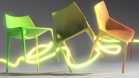 chair outline jump 3d model