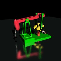 pumpjack pumping 3d model