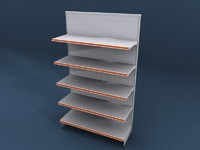 shelving shelf store 3d model