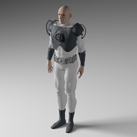 scifi man 3d model