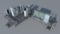 3d rooftop electrical boxes model