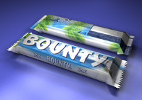 model bounty chocolate bar