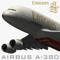 airbus emirates airways 3d model
