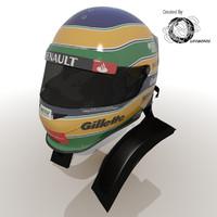 Bruno Senna 2012 Helmet