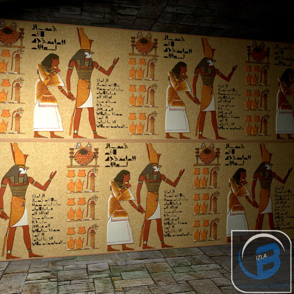 egyptian egypt wall obj - Egyptian wall... by Bizla