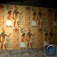 egyptian egypt wall obj