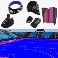Field Hockey Stadium and Equipment Collection