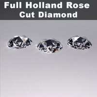 3d model holland rose cut diamond
