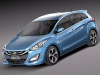 3d model hyundai i30 wagon 2013