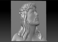 maya jesus relief cnc